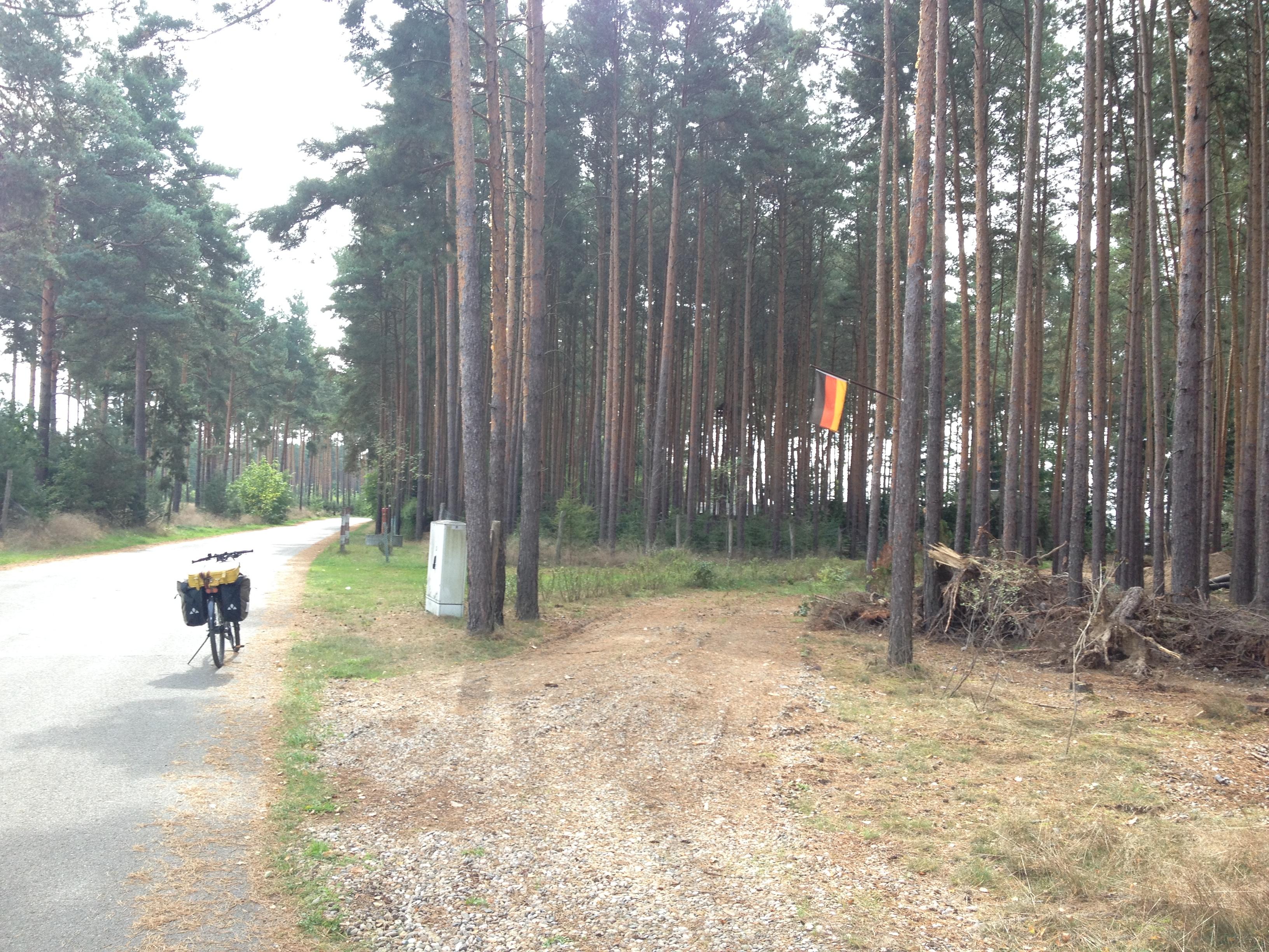 Deutschlandfahne im Wald