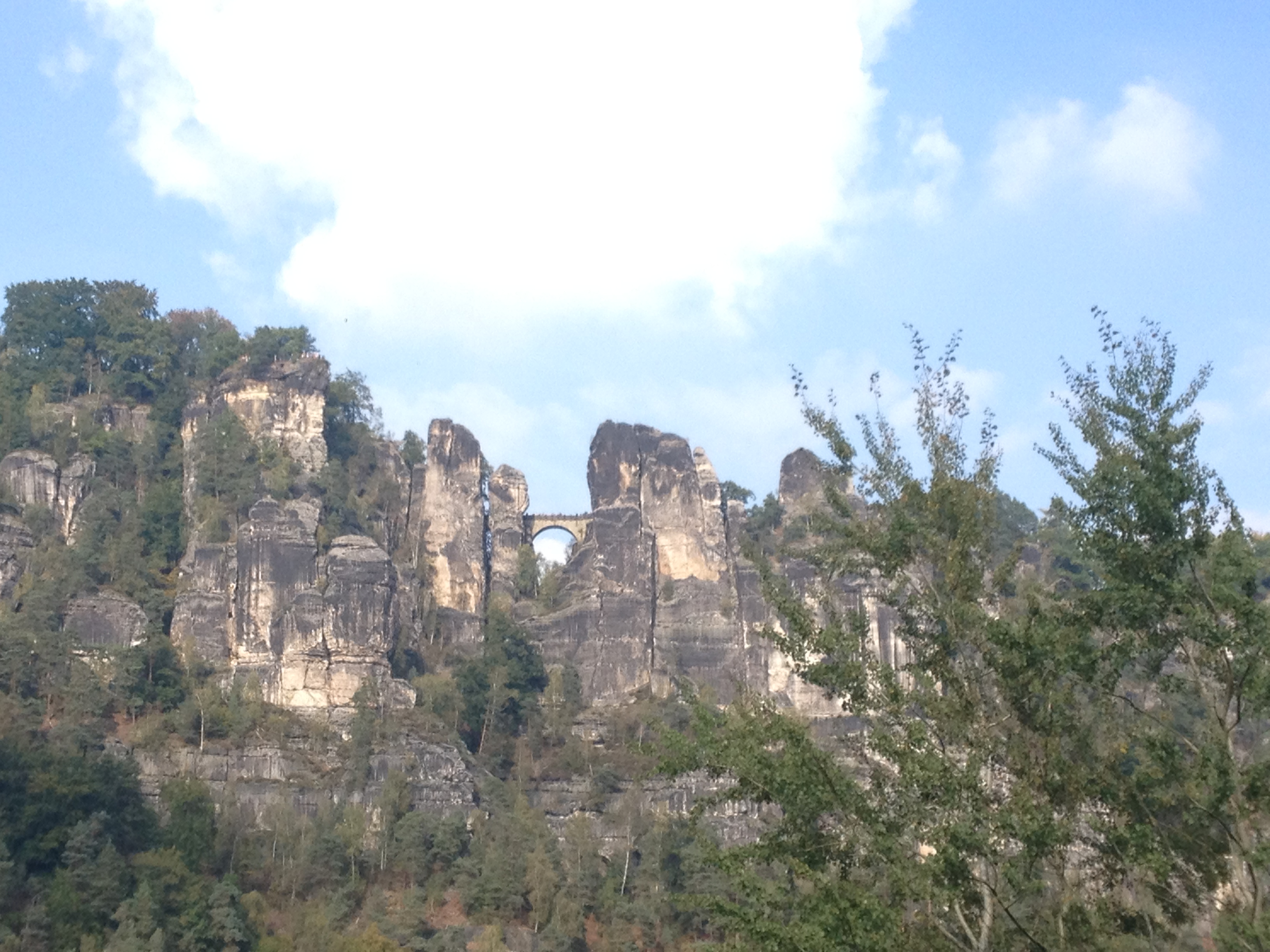 Richtung Elbsandsteingebirge