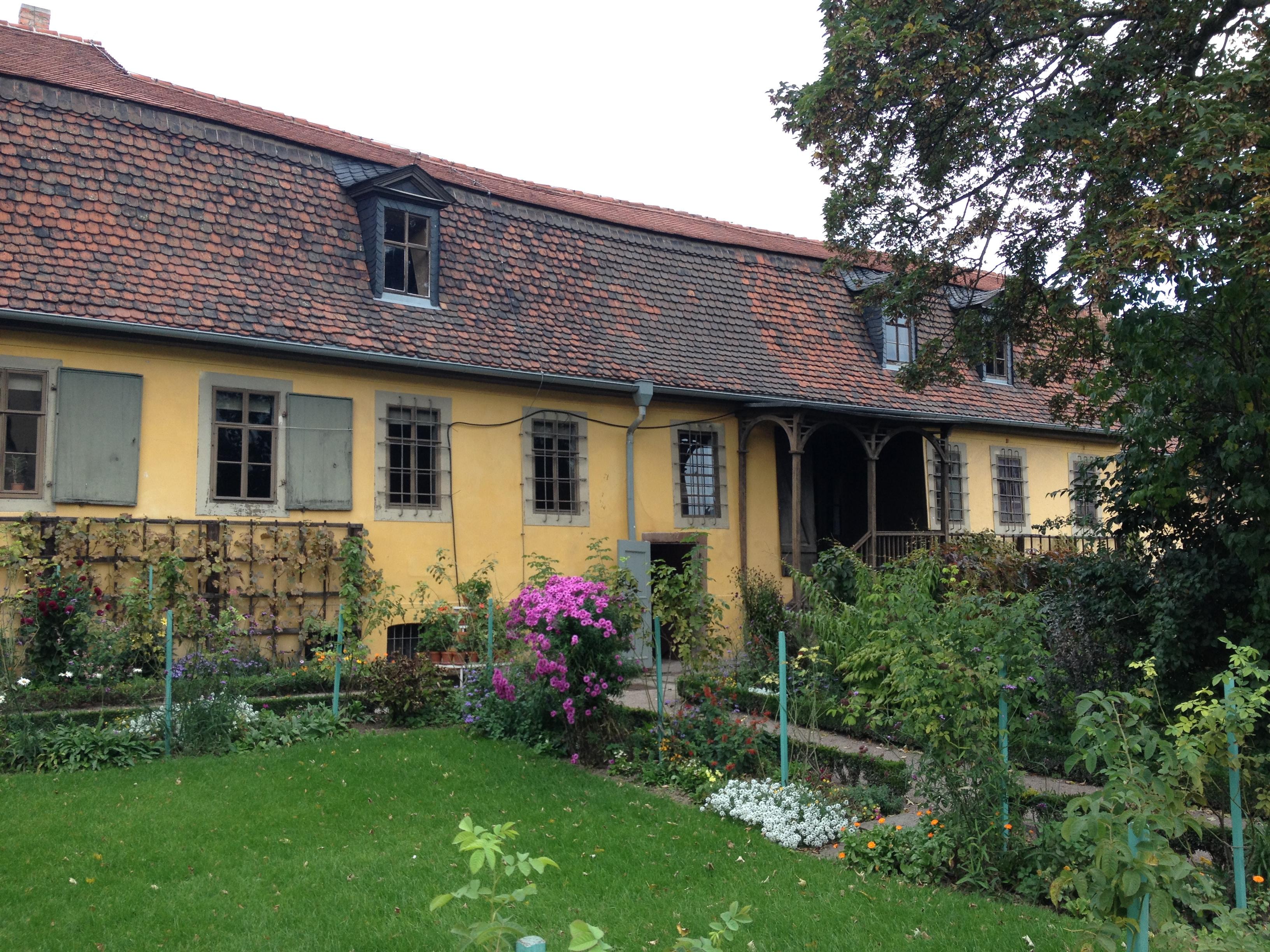 Das Goethehaus mit Garten
